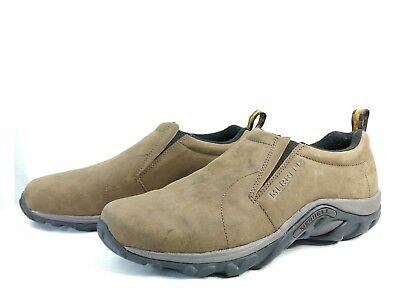 db85dec0 MERRELL JUNGLE MOC Nubuck Men's Brown Slip On Shoes Size US 13 / EU 45