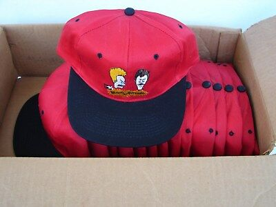NEW NOS RED MTVs Beavis and Butthead snapback baseball cap hat ... de305568a34