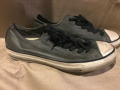 77c092306a68 Mens Converse Gray Chuck Taylor All Star Low Top Leather John Varvatos Size  7.5