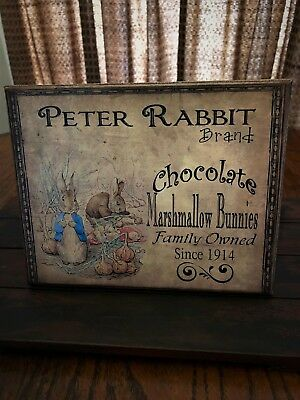 ~*Primitive Easter~Spring~Peter Rabbit~Canvas Print*~