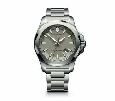 New Victorinox Pro Diver INOX Stainless Steel Gray Dial Mens Watch 241739