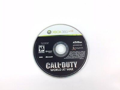 Call Of Duty World At War Video Game (Microsoft Xbox 360, 2008) - DISC ONLY
