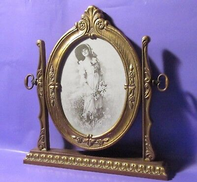 """RETRO PICTURE FRAME EASEL STYLE SIZE 10.5""""t X 10""""w MADE OF HARD PLASTIC"""