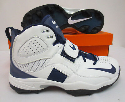 brand new cfbbb 35771 Nike Air Boss Pro Shark Cleats Football 311678 141 Mens Adult Shoes Wht Navy