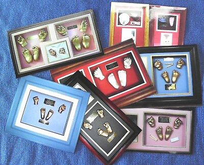Baby, Twins,  Hand And Foot Impressions, Memory Casting, And Framed Sculptures