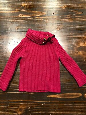 Pink Toddler Girls Ribbed Long Sleeve Sweater 12 Months