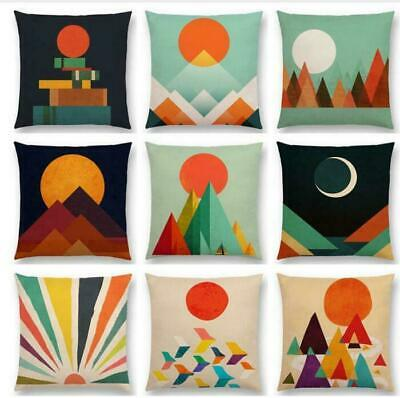 Geometric Abstract Pattern Colorful Retro Cushion Cover Sofa Pillow Case
