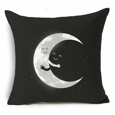 "18"" Cotton Linen Vintage Horror Pillow Case Soft Throw Cushion Cover Home Decor"