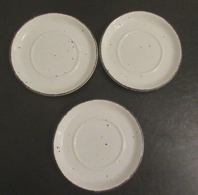 """3 Pc Set Midwinter Stonehenge Wild Oats 6 1/4"""" Saucers -Made in England"""