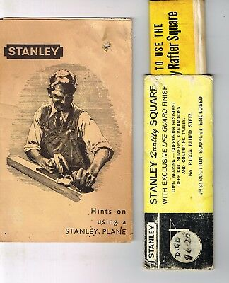 Vintage STANLEY ephemera x 2, plane brochure and square booklet