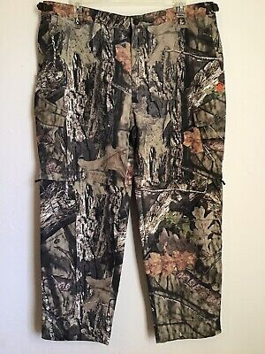ebb181e3dd254 Game Winner Mens 2XL 44-46 Mossy Oak Camouflage Camo Hunting Convertible  Pants