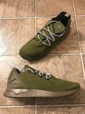 3ccd536b27747 Adidas ZX Flux ADV X Running Shoes Men s Size 10.5 Olive  Black  White  B49405