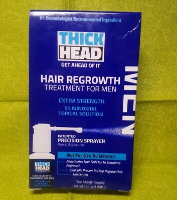 THICK HEAD HAIR REGROWTH TREATMENT FOR MENExtra Strength 5% Minoxidil Topical 2