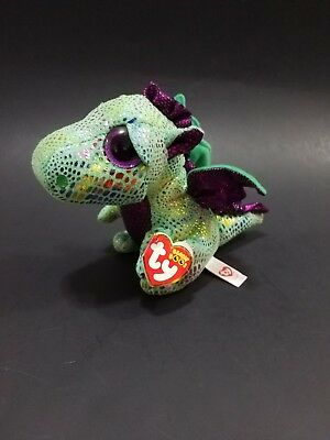 68d6ec49756 NEW! TY BEANIE Boos CINDER the Dragon Key Clip Size -  3.99