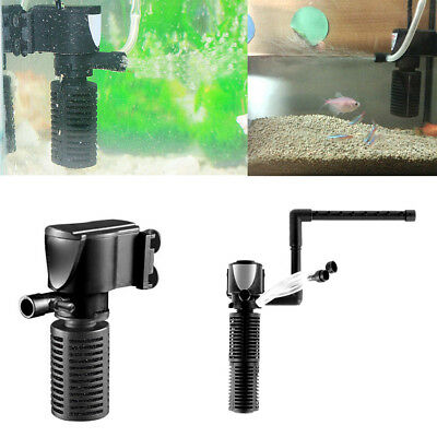 KF_ Mini 3-in-1 Aquarium Fish Turtle Tank Quiet Purifier Water Filter Oxygen P