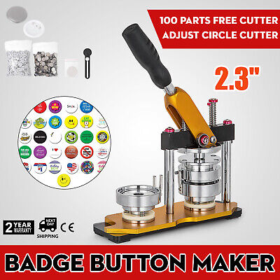 "58mm(2.28"") Button Maker Rotate Machine 100Pcs Bottle Openers Key Chains Badge"