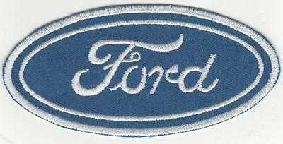 LARGER  FORD Iron On Patch 4 inch x  2  inch BUY 2 WE SEND THREE OF THESE.