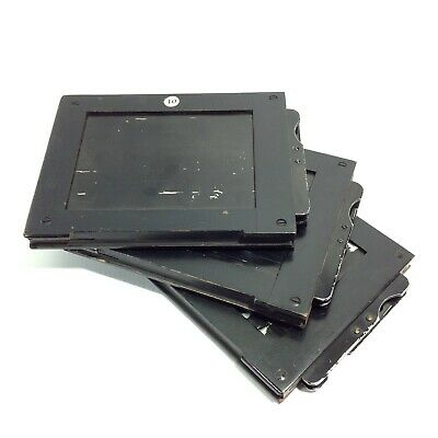 Lot of 3 Vintage Photographic Glass Plate Negative Holders