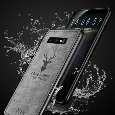 For Samsung Galaxy S10 Plus S10E Hybrid Soft TPU Leather Matte Back Case Cover