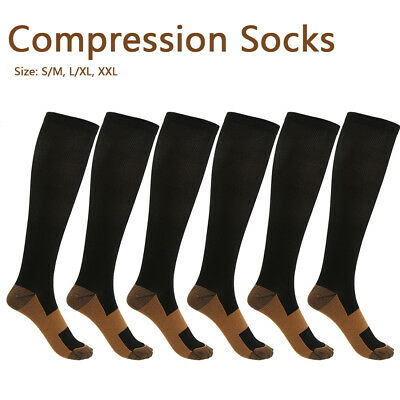 Copper Compression Stockings 20-30mmHg Support Socks Miracle Calf Men's Women's