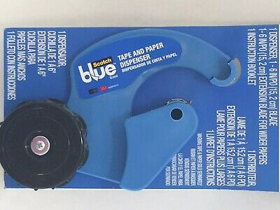 New! SCOTCH BLUE TAPE AND PAPER DISPENSER M1000-SB 3M Painters Tape Tool