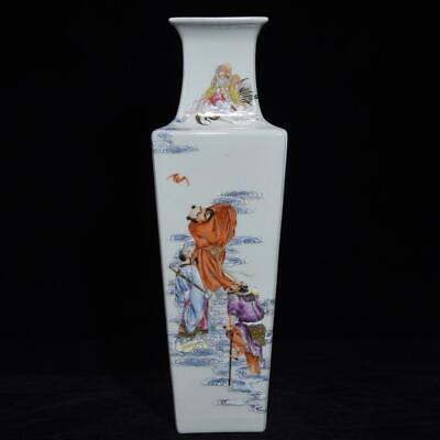 Chinese Exquisite Handmade colorful eight Immortals figure porcelain vase