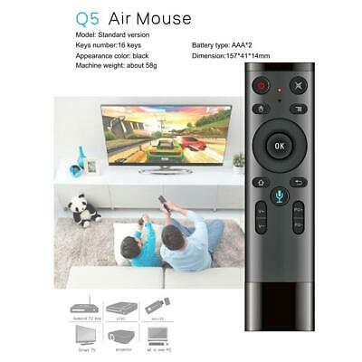 Q5 Fly Air Mouse 2.4GHz Wireless Mic Remote Control for Smart TV Android Box PC