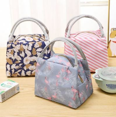 Portable Thermal Insulated Cooler Lunch Bag Carry Tote Lunch Box Storage Bag