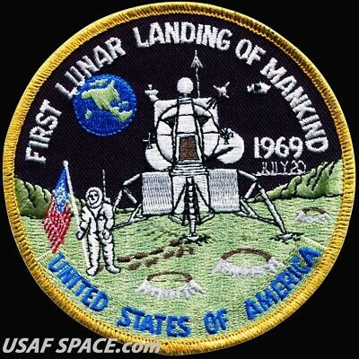 ORIGINAL AB Emblem - FIRST LUNAR LANDING OF MANKIND - APOLLO 11 PATCH - USA MINT
