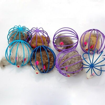 More Play Playing Toys False Mouse in Rat Cage Ball For Pet Kitten Cat Gift