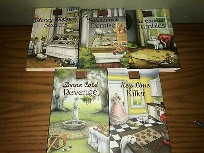 Chocolate Shoppe Mysteries lot of 5 different Cozy Mystery hardcover books