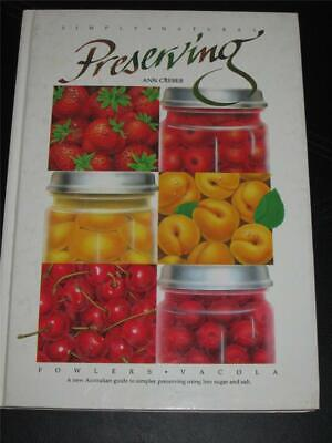 Fowlers Vacola Preserving Book Cooking Cookbook Preserves Free Post