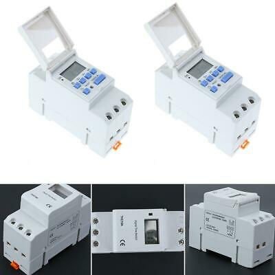 AC 220-240V 16A Digital LCD DIN Programmable Weekly Rail Timer Time Relay Switch