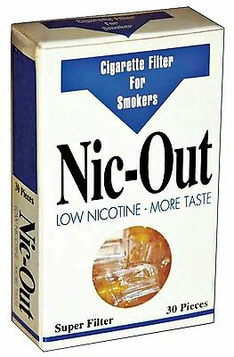 💥 QUIT SMOKING With NIC - OUT CIGARETTE FILTERS 30 Pieces Low Tar - More Taste