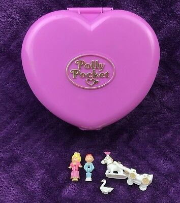 Vintage Polly Pocket 1992 Starlight Castle Pink Heart Lights Up 100 Complete