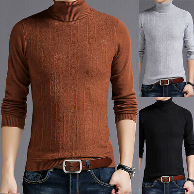 038635c46 Men s Thermal Turtle Neck Skivvy Turtleneck Sweaters Tops Stretch T Shirt