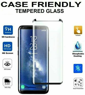 For Samsung Galaxy S8 S9 Plus 5D Full Curved Tempered Glass Screen Protector UK