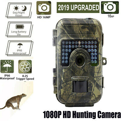 UK HD1080P 16MP Animal Hunting Trail Camera Video Scouting Infrared Night Vision