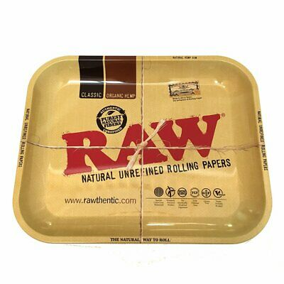 RAW Rolling Papers Metal Tray Large Size Optional Magnetic Lid Cover Rawthentic