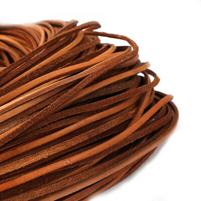 2 Meters High Quality 3mm/4mm/5mm Flat Genuine Natural Leather Cord String