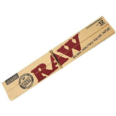 Raw Classic Supernatural 12 inch Smoking Rolling Papers Natural Unrefined Paper