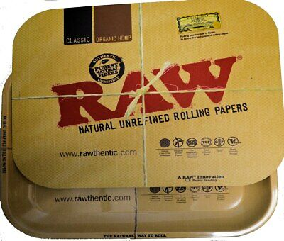 Raw Rolling Papers Magnetic Tray Cover Mini or Large Size Rawthentic Lid