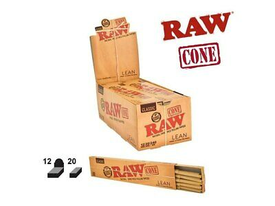 Raw Pre-Rolled Lean Cone King Size Full Box w/ 12 Packs 20 Cones per Pack = 240
