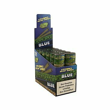 Cyclones Hemp Blunts 12 Packs Box Flavoured  Cones Blueberry Strawberry or Grape