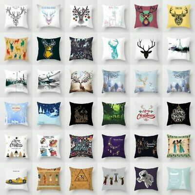 "Ethnic Style Deer Animal Astronaut Polyester Pillow Case Cushion Cover 18""x18''"