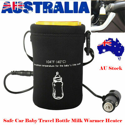 Safe Car Baby Travel Bottle Cup Milk Warmer Portable Para Auto Heater Device AUS