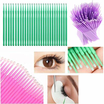 100x Microbrush Extension per ciglia Micro Brush Cleaning Stick Mini Brush