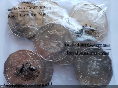 One 50 cent coin 2018 Coat of arms 50c ex RAM bag uncirculated in 2 x 2