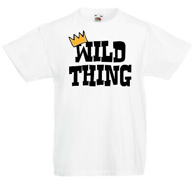 Kids Wild Thing T-shirt - World Book Day Where Things Outfit Are Crown Gift Top