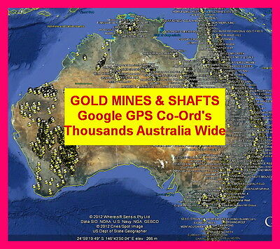 HISTORICAL GOLD MAPS & GPS WAY-POINTS,POINTS OF INTEREST, Garmin,Minelab,fossick